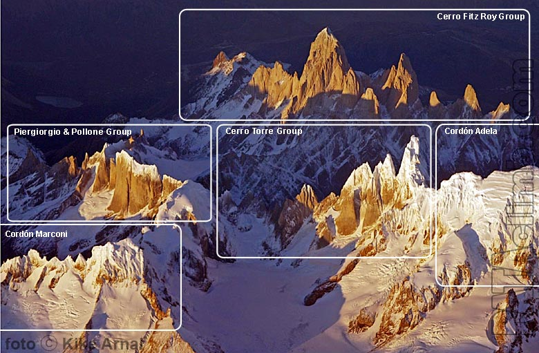 Chalten mountain groups